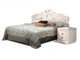 Спальня Мелани 1 КМК 0434-01 Белый+патина золото