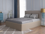 Мягкая кровать Милана (Велюр, Перт 03)