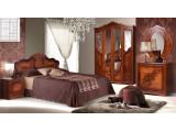 Спальня Мелани 2 КМК 0434-02 (Дуб молочный и Орех Донской)
