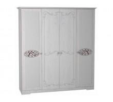 01 Шкаф 4-х дверный для одежды и белья Виктория-1