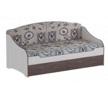 02 Кровать одинарная с подушками 900х1900 мм Омега