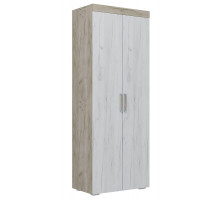 02 Шкаф 2-х дверный для белья с полками Амалия
