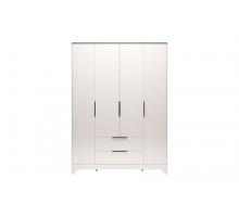 02 Танго Шкаф для одежды 4-х дверный с ящиком без зеркал