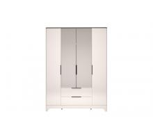 02 Танго Шкаф для одежды 4-х дверный с ящиком с зеркалом