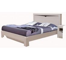 03 Кровать Сандра 1600*2000 мм, без ортопеда, без матраса (Ясень анкор светлый)
