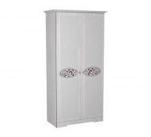 03 Шкаф 2-х дверный для одежды и белья Виктория-1
