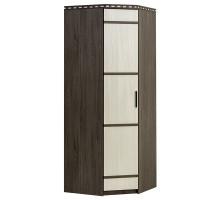 05 Шкаф 1-но дверный угловой Карина (Венге темный/Дуб беленый)
