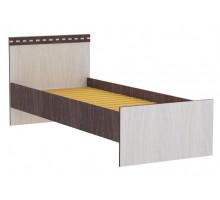 06 Кровать 800 х 2000 мм Карина (Ясень анкор темный/Ясень анкор светлый)