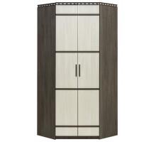 06 Шкаф 2-ух дверный угловой Карина (Венге темный/Дуб беленый)