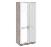 06 Шкаф для одежды с глухой и зеркальной дверями Прованс (Дуб сонома/Ясень белый)