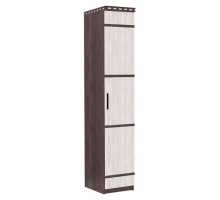 07 Шкаф 1-но дверный со штангой Карина (Венге темный/Дуб беленый)