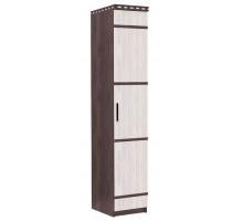 08 Шкаф 1-но дверный с полками Карина (Венге темный/Дуб беленый)