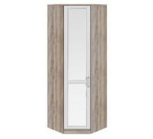09 Шкафугловой с зеркальной дверью Прованс (Дуб сонома/Ясень белый)