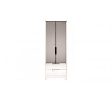 09 Танго Шкаф для одежды с ящиками 2-х дверный (с зеркалом)