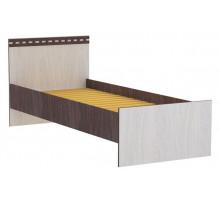 10 Кровать 900 х 2000 мм Карина (Венге темный/Дуб беленый)