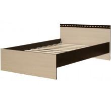12 Кровать 1400 х 2000 мм Карина (Венге темный/Дуб беленый)
