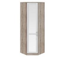12 Шкаф угловой с зеркальной дверью Прованс (Дуб сонома/Ясень белый)