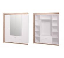 16 Шкаф 4-х дверный с зеркалом Люмен