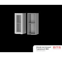 3В2 Шкаф настенный 1-дверный со стеклом Альфредо