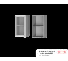 4В2 Шкаф настенный 1-дверный со стеклом Альфредо