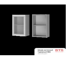 5В2 Шкаф настенный 1-дверный со стеклом Альфредо