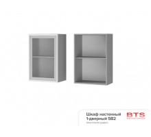 5В2 Шкаф настенный 1-дверный со стеклом Арабика