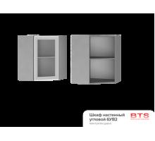 6УВ2 Шкаф настенный угловой со стеклом Альфредо