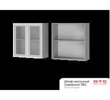 7В2 Шкаф настенный 2-дверный со стеклом Эмили