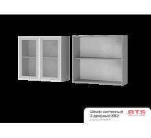 8В2 Шкаф настенный 2-дверный со стеклом Альфредо