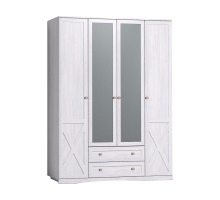 ADELE 9 Шкаф для одежды и белья, с цоколем, Ясень анкор светлый