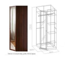 Sherlock63 Шкаф угловой, фасад Зеркало (высота 2300 мм)
