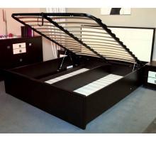 АМЕЛИ ЛЮКС 101+1.2 Кровать 180*200 Венге в комплекте с основанием с подъемным механизмом