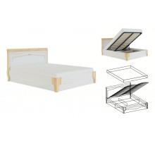 Элен мод № 1.2 кровать 1,4 с ПМ, б/м (Перламутр/Дуб фактурный)