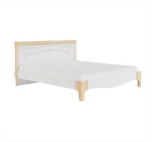 Элен мод № 1.4 кровать 1,8 б/о, б/м (Перламутр/Дуб фактурный)