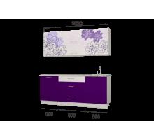 Гарнитур кухонной мебели Бордо-виолет 2,0 накл.мойка