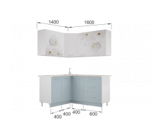 Гарнитур кухонной мебели Флоренс-Скай угловой