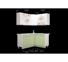 Гарнитур кухонной мебели Флоренс 1.4*1.6 угловой