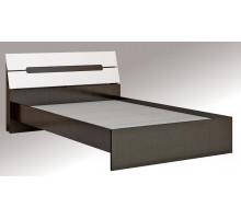 Гавана Кровать 1,6 с основанием ДСП, без матраса (Акрил белый)