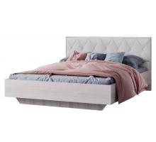 Кимберли Кровать 1600 КР-13 ясень белый/белый глянец