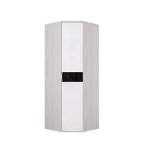 Кимберли Шкаф угловой ШК-28 ясень белый/белый глянец