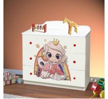 Комод с 3-мя ящиками Принцесса (Белый)