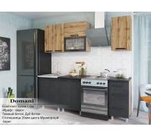 Комплект кухни 1,6 м Крафт-евро (Темный бетон, Дуб Вотан)