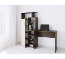 Компьютерный стол Квартет-7 венге/дуб молочный