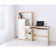 Компьютерный стол Квартет-8 дуб сонома/белый