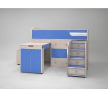 Кровать-чердак Малютка (Голубой)