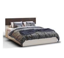 Кровать 1600 Николь КМК 0683.1, Дуб шамони светлый/Орех шоколадный