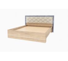 Кровать 1,6 без матраса Мадлен (Дуб шале серебро)