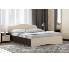 Кровать без ящика 1200 (Венге темный/Дуб беленый)