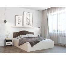 Кровать Дели каркас (1,4) велюр шоколад, дуб