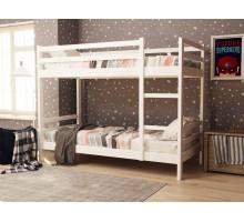 Кровать двух-ярусная с бортиками из массива Анита-7 Белый 800*1900